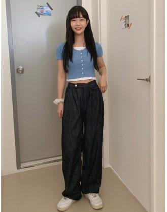 KL1856 韓國女裝長褲 Denim