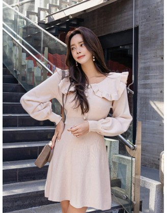 KL1822 韓國女裝針織連身裙 KNIT DRESS