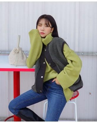 KL1832 韓國女裝背心 Fleece Vest