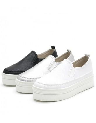 KS0018 韓國製厚底鞋 SLIPON